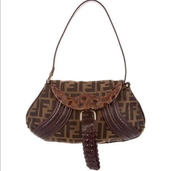 1180df9750 ... spain fendi zucca tortoise mini spy pouch shoulder bag 7202d 55a99